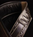Walker & Williams B4-B Super Wide 4″ Dark Brown Leather Double Padded Bass Strap