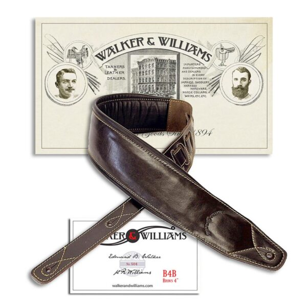 Walker-Williams-B4B-Super-Wide-4-inch-Dark-Brown-Leather-Double-Padded-Bass-Strap-900