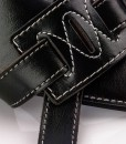 Walker & Williams C-20 Custom Black with Brown Gothic Overlay Padded Strap