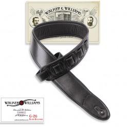 Walker & Williams G-26 Semi-Gloss Black Bullnose Padded Strap with Glovesoft Back