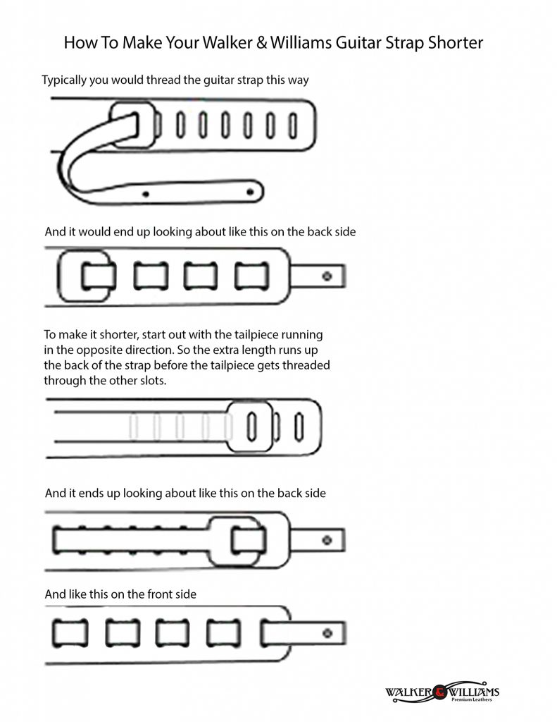 How To Make Your Guitar Strap Shorter