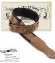 Walker & Williams G-03 Padded Saddle Brown Guitar or Bass Strap