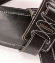 Walker & Williams B4-B Super Wide 4″ Double Padded Black Top Grain Leather Strap