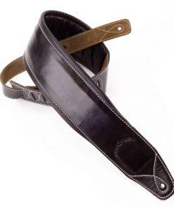 Walker & Williams B4-B Super Wide 4″ Double Padded Black Top Grain Leather Strap