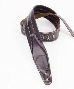 Walker & Williams C-21 Premium Black Padded Leather Strap