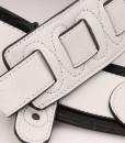 Walker & Williams G-08 Arctic White Padded Strap Ultra Soft Garment Leather Back