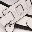 Walker & Williams G-08 Arctic White Padded Strap Ultra Soft Garment Leather Back