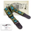 Walker & Williams H-01 Vintage Series Blue Woodstock Hippie Strap with Leather Ends