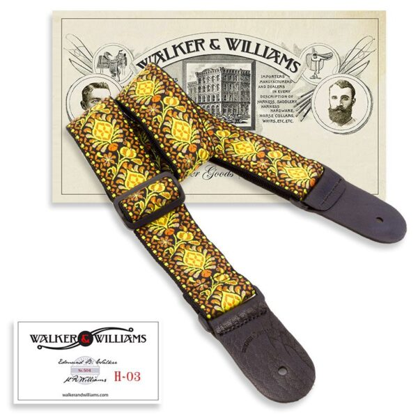 Walker & Williams H-03 Vintage Series Psychedelic Sun Woven Hippie Strap with Leather Ends