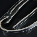 Walker & Williams Vintage C-18 Slash Strap Premium Black Leather Extra Long Up To 61″