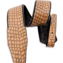 Walker & Williams F-10N Natural Brown Croc Strap with Soft Padding