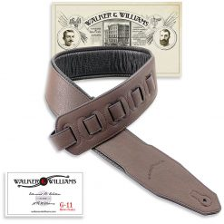 Walker & Williams G-11 Chocolate Brown Strap with Padded Glovesoft Back