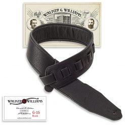 Walker & Williams G-15 Black Matte Padded 3″ Strap