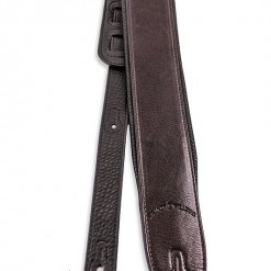 Walker & Williams G-24 Cognac Brown Guitar Strap With Padded Glovesoft Back