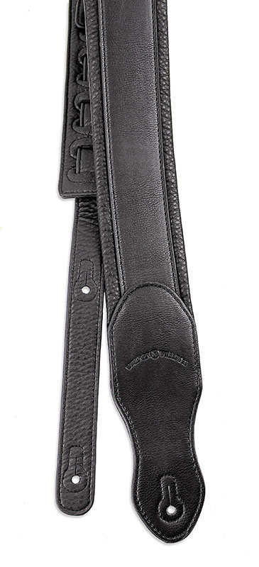 Walker /& Williams G-28 Chestnut Brown Guitar Strap PaddedGlove Leather Back