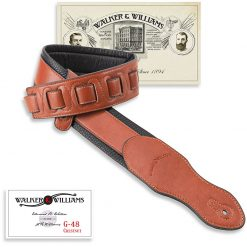 Walker & Williams G-48 Chestnut Brown Strap with Padded Glovesoft Back