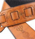 Walker & Williams G-502 London Tan Padded Strap with Carving