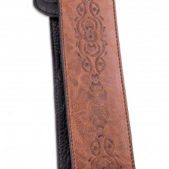 Walker & Williams G-504 Java Brown Tooled Leather Strap with Padded Glovesoft Back