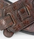 Walker & Williams F-12 Dark Brown Gator Strap With Padded Glovesoft Back