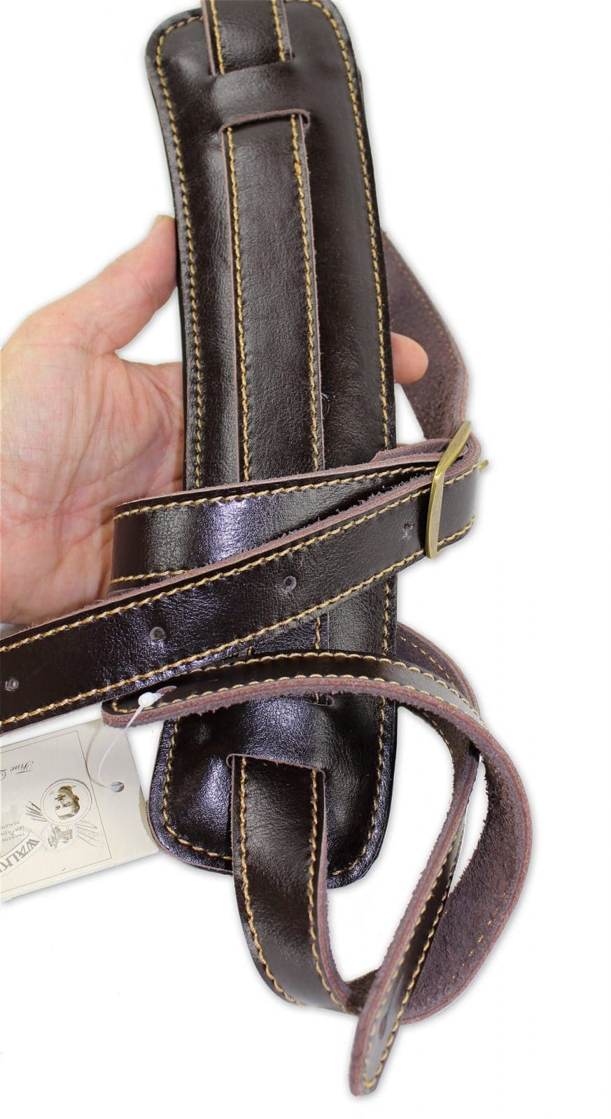 531bf224d5ad C-19 Rockabilly Strap Soft Brown Leather Extra Long - Walker & Williams