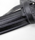 Walker & Williams C-34 Black on Black Handmade Double Padded Leather Strap