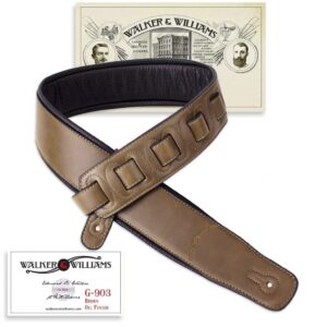 Walker & Williams G-903 Oil Finish Java Brown Strap Padded Glovesoft Back