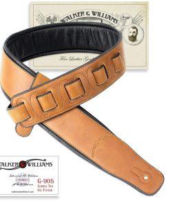 Walker & Williams G-905 Oil Finish Saddle Tan Strap with Padded Glovesoft Back