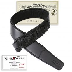 Walker & Williams G-907 Oil Finish Black on Black Strap Padded Glovesoft Back