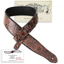 Walker & Williams G-971 Brown Embossed Strap w/Padded Glovesoft Back