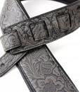 Walker & Williams G-974 Dark Grey Embossed Strap  with Padded Glovesoft Back