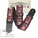 Walker and Williams H-22 Vintage Series Red Hendrix Hootenany Woven Hippie Strap with Leather Ends