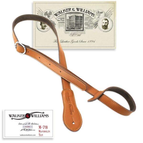 Walker & Williams M-78 Soft Leather Mandolin Mandola Bouzouki Strap