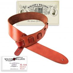 Walker & Williams SL-114 Chestnut Full Grain Soft Italian Leather Strap