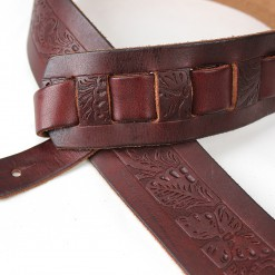 Walker & Williams SP-21 Tooled Mahogany Carving Leather Strap
