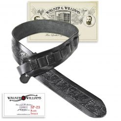 Walker & Williams SP-23 Tooled Black Carving Leather Strap