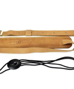 Walker & Williams U-74 Soft Leather Ukulele Strap Adjustable for Most Uke Sizes
