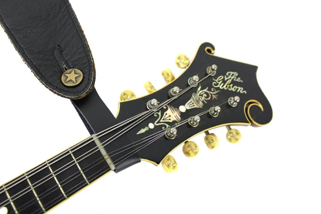 At 1 Blk Acoustic Guitar Strap Button Headstock Adaptor