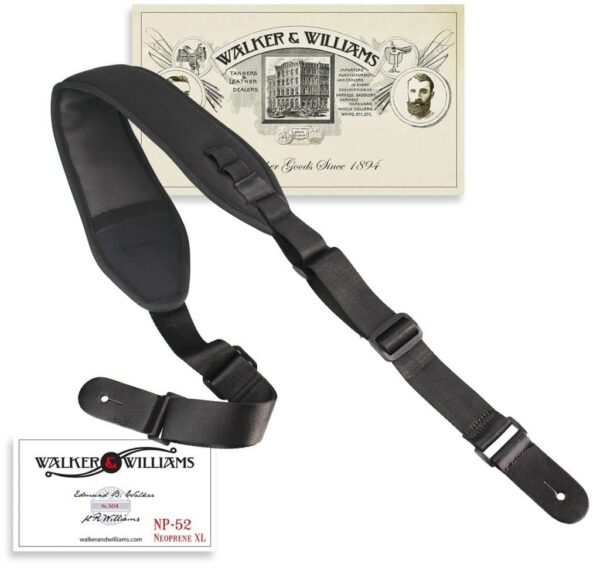 Walker & Williams NP-52 XL Neoprene Strap Bass or Guitar Extra Long Up To 60″