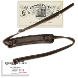 Walker & Williams C-18 Brown Leather Vintage Slash Strap Extra Long