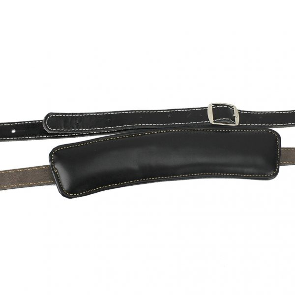 Walker & Williams C-19 Rockabilly Strap Soft Black Leather Extra Long