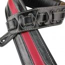 Walker & Williams C-34 Black and Red Double Padded Premium Leather Strap