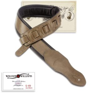Walker & Williams G-49 Java Brown Premium Strap with Padded Glovesoft Back