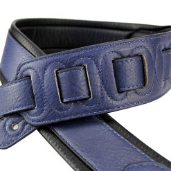 Walker & Williams G-103 Navy Blue Premium Strap with Padded Glovesoft Back