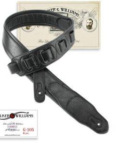 Walker & Williams G-105 Black on Black Premium Strap with Padded Glovesoft Back