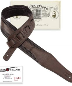 Walker & Williams G-514 Cognac Multi Layer Strap with Padded Glovesoft Back